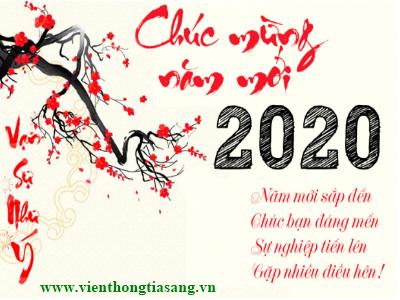 Mừng xuân Canh Tý 2020