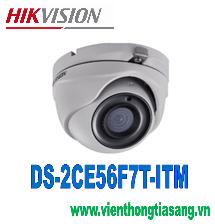 CAMERA HD-TVI DOME HỒNG NGOẠI 3.0 MEGAPIXEL HIKVISION DS-2CE56F7T-ITM