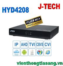 ĐẦU GHI HÌNH AHD/TVI/CVI/CBVS/IP J-TECH HYD4208