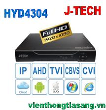 ĐẦU GHI HÌNH AHD/TVI/CVI/CBVS/IP J-TECH HYD4304