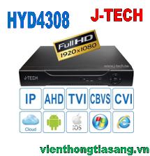 ĐẦU GHI HÌNH AHD/TVI/CVI/CBVS/IP J-TECH HYD4308