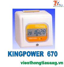 MÁY CHẤM CÔNG THẺ GIẤY KINGPOWER  670